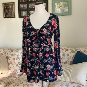 American Eagle Floral Romper, Size XS